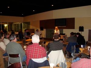 Karen sang an original song a capella! Well done!